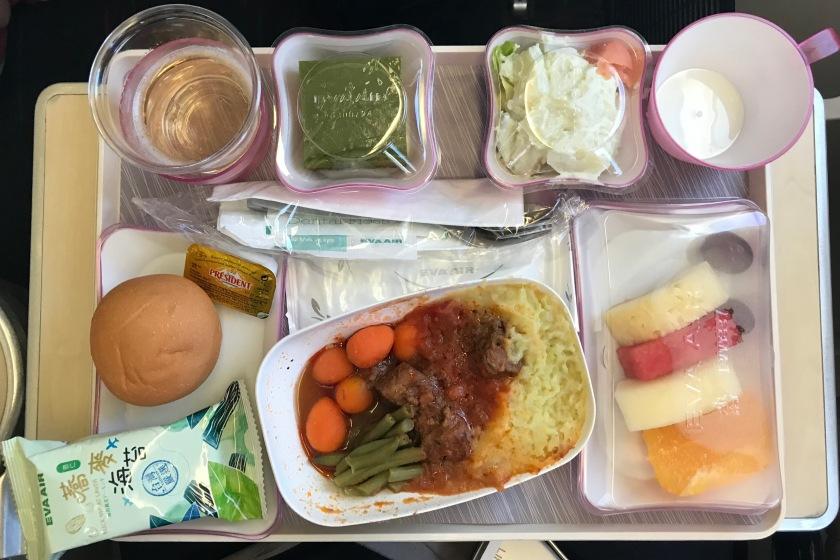 EVA Air Premium Economy lunch